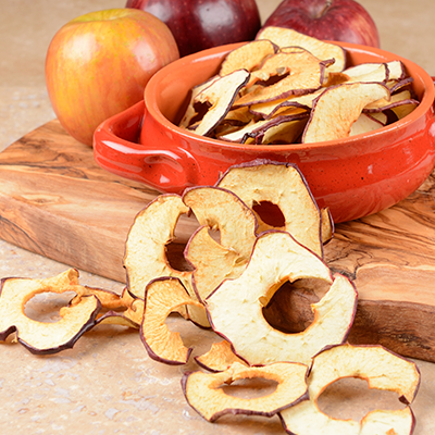 Dried Apple with seeds